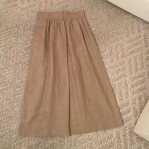 Vintage tan linen skirt